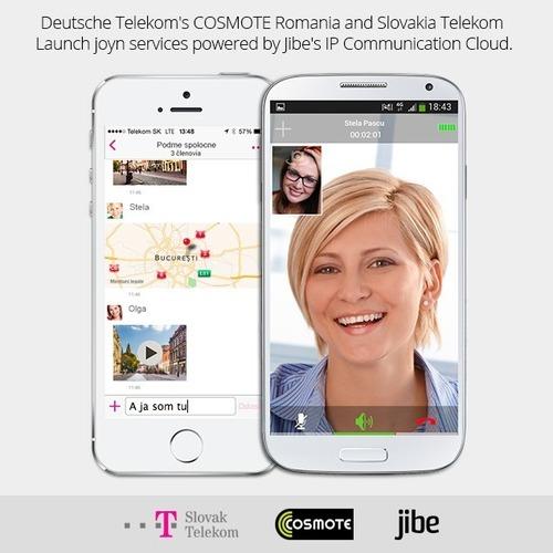 Deutsche Telekom's COSMOTE Romania and Slovakia TelekomLaunch joyn services powered by Jibe's IP Communication Cloud. (PRNewsFoto/Jibe Mobile)