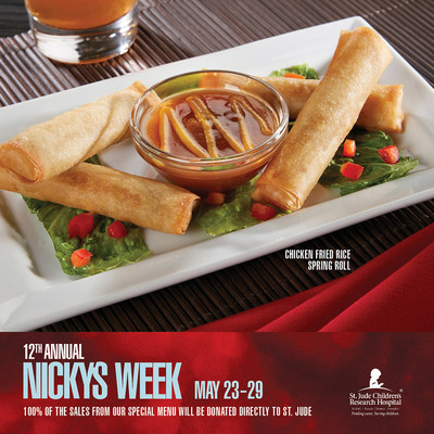 ST. JUDE AND RA SUSHI TEAM UP FOR 12th ANNUAL NICKY'S WEEK, MAY 23-29; Annual event aims to raise $200k for childhood cancer and other life-threatening diseases