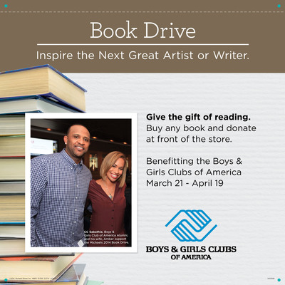 Michaels Hosts Third Annual Book Drive To Benefit Boys & Girls Clubs In The U.S. And Canada