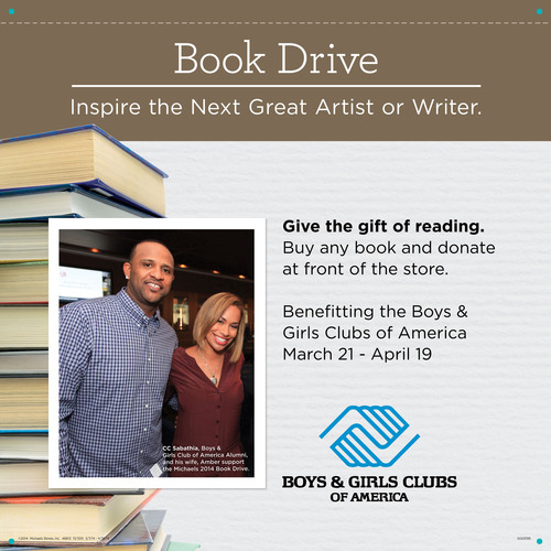 Michaels Boys and Girls Clubs Book Drive. (PRNewsFoto/Michaels Stores, Inc.) (PRNewsFoto/MICHAELS STORES, INC.)