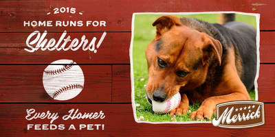Every homer feeds a pet: Merrick Pet Care donates nearly 50,000 meals to local pet shelters for Homeruns for Shelters.