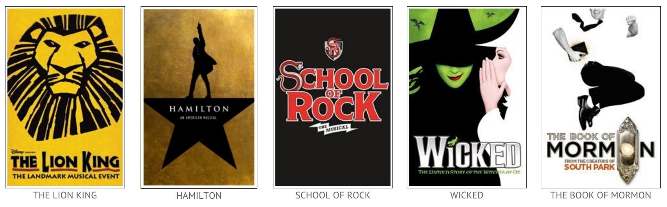 Popular Broadway Shows