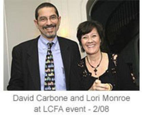 Lori Monroe & Dr. David Carbone (PRNewsFoto/Lung Cancer Foundation of America) (PRNewsFoto/LUNG CANCER FOUND. OF AMERICA)
