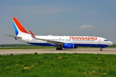 Transaero's Boeing 737-800 in new livery (PRNewsFoto/Transaero Airlines)