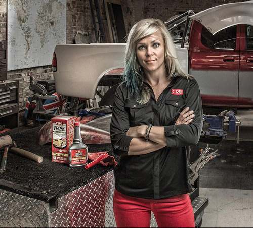 Crc industries partners with automotive celebrity jessi for Jessi combs tattoos