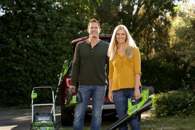 Chris and Peyton Lambton choose Greenworks Tools