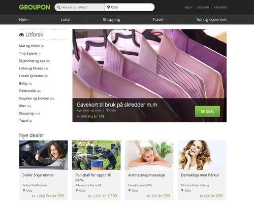 Groupon Norge renoverer nettstedet for a bli en ekte online markedsplass (PRNewsFoto/Groupon)