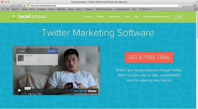 SocialCompass - Twitter Marketing Software. (PRNewsFoto/HipLogiq)