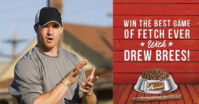 Merrick Pet Care Kicks Off National Campaign with Best Game of Fetch Ever Contest Featuring Star Quarterback Drew Brees