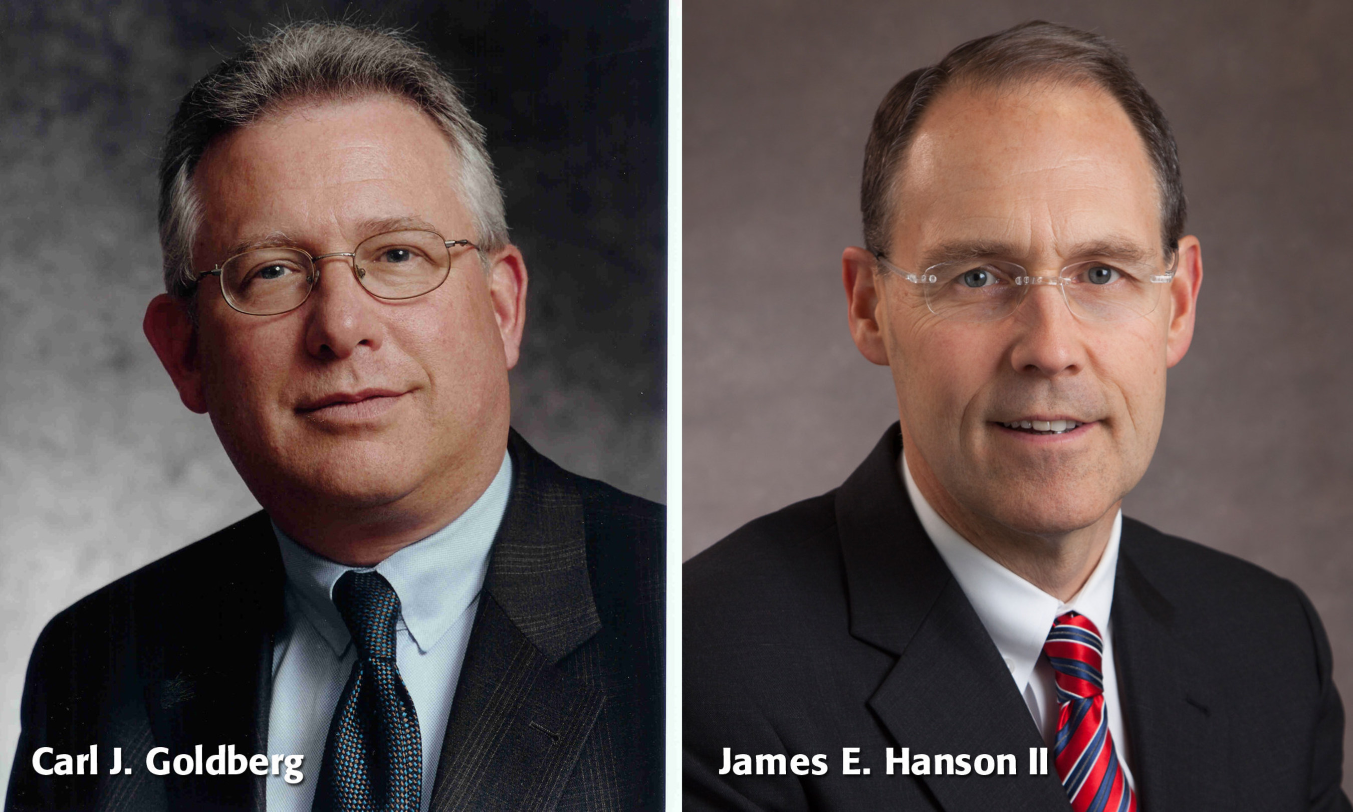 Real estate industry veterans Carl Goldberg and James Hanson will help to build Rutgers Business School's new Center for Real Estate Studies.