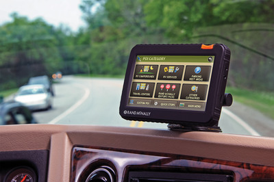 Rand McNally's RVND(TM) 7720: a new 7-inch RV GPS device with Wi-Fi(R) connectivity allowing for real-time weather information and display, and new hardware with rugged casing, video input, and brighter screen.  (PRNewsFoto/Rand McNally)