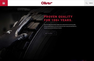 Oliver Rubber Launches New, More User-Friendly Brand Website