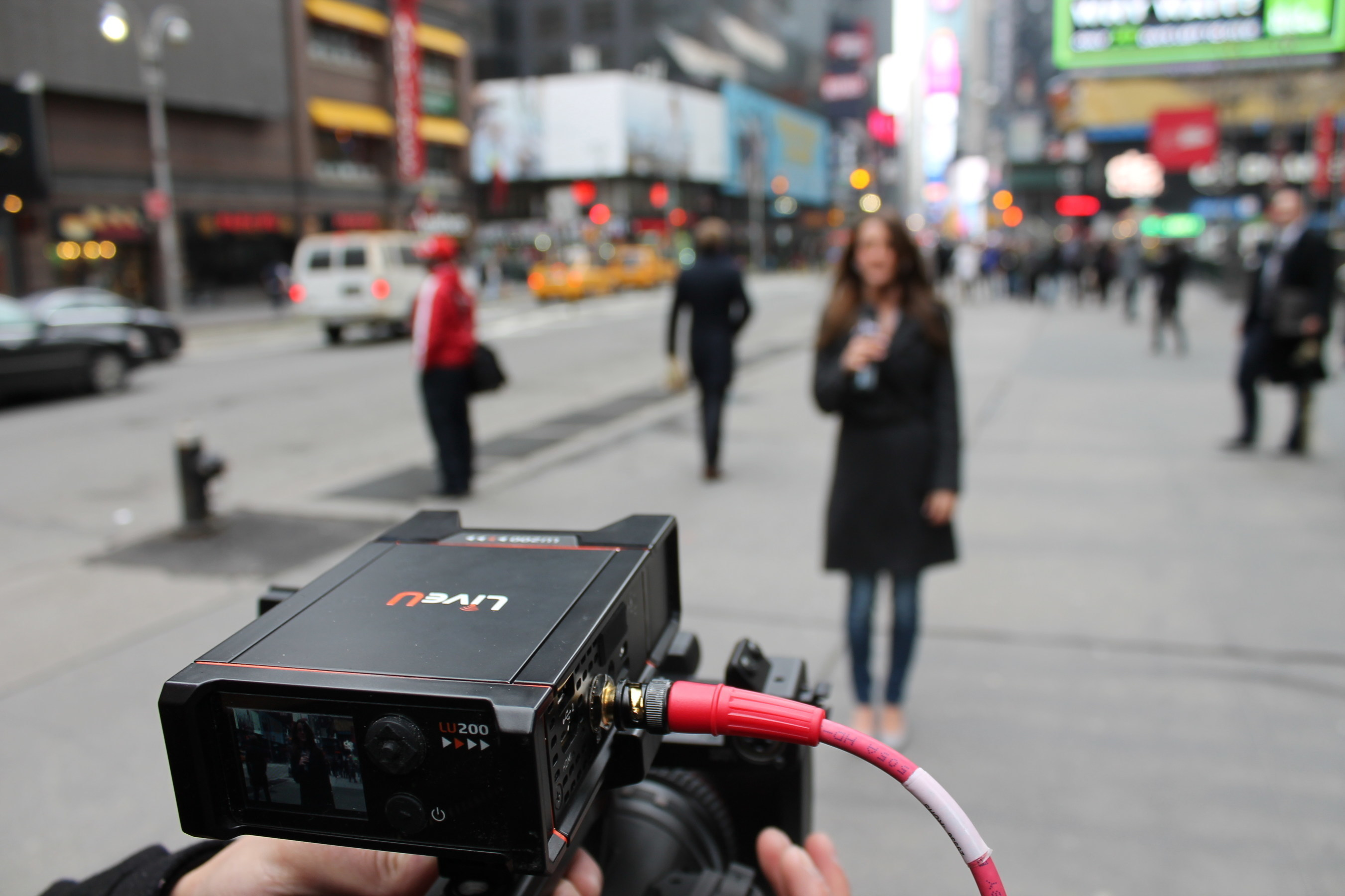 Weighing just 1lb, LiveU's LU200 allows every field camera to be equipped with a bonding uplink unit