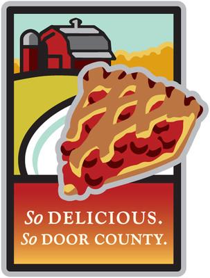 """""""So Delicious. So Door County."""" Promotional Logo. Photo credit: Door County Visitor Bureau/DoorCounty.com."""