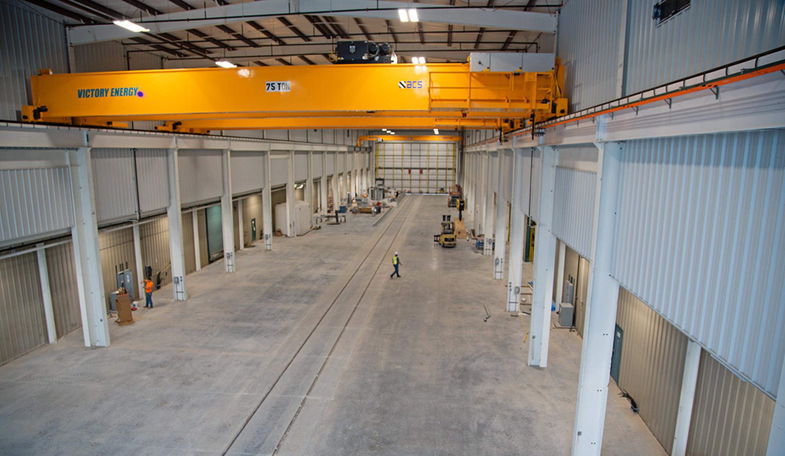 41-foot Ceilings utilize 75-ton cranes.
