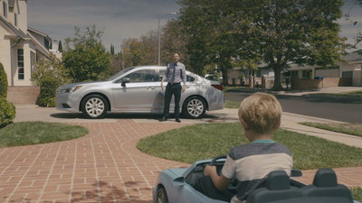 All-new 2015 Subaru Legacy national television spot – Jr. Driver. (PRNewsFoto/Subaru of America, Inc.)