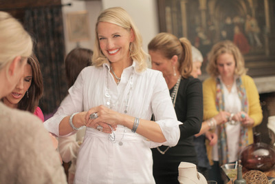 HGTV(R)'s Monica Pedersen recently hosted a Silpada jewelry party for her friends. For Monica's tips on hosting a fab party, visit Silpada.com/Monica.  (PRNewsFoto/Silpada Designs)