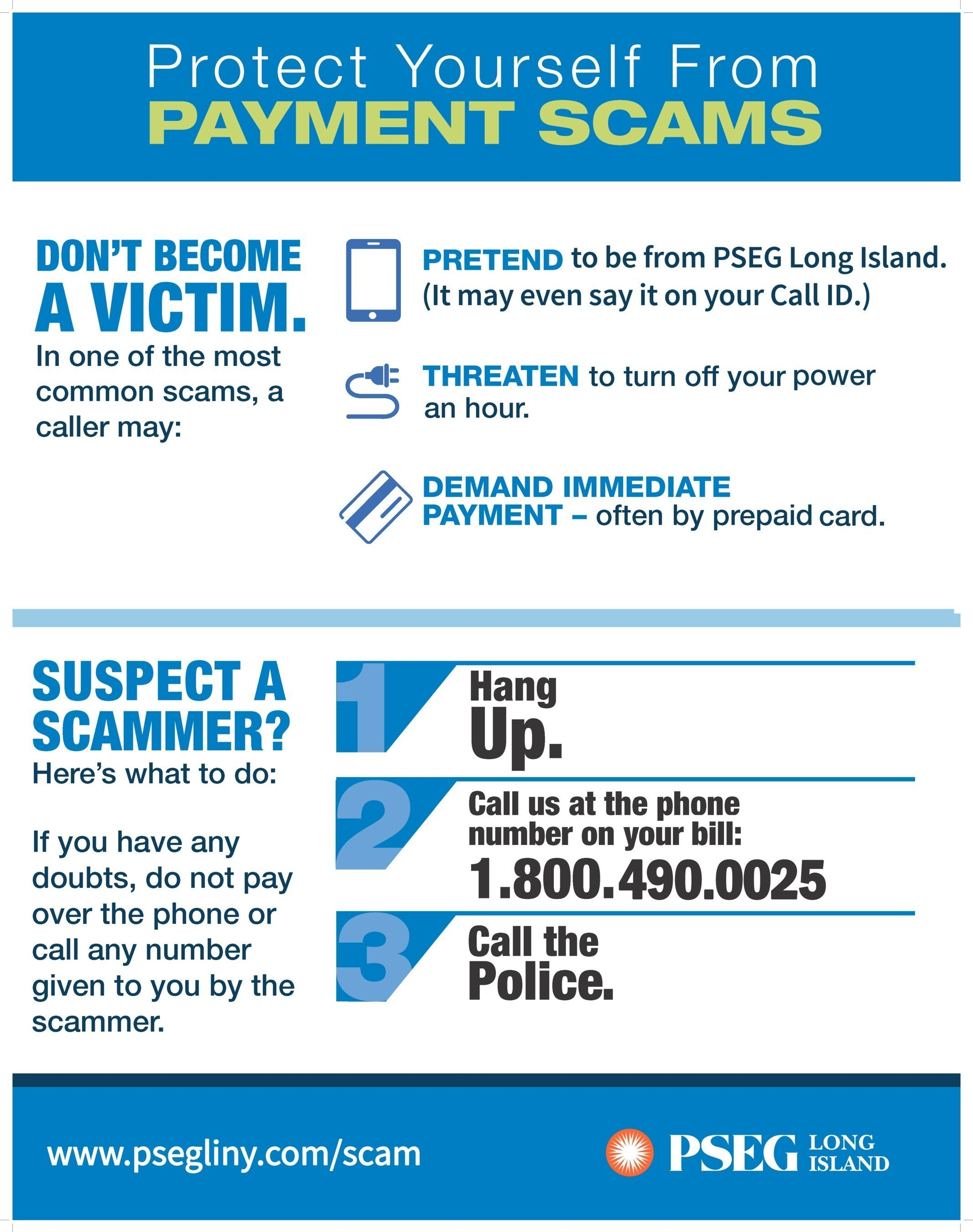 Pseg Long Island Joins Top North American Utilities To Stop Scams