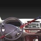 The Club AntiTheft Device Locked onto steering wheel (PRNewsFoto/WomenCertified Inc.)