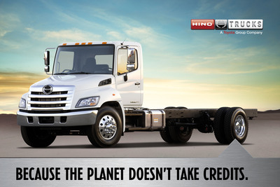 Because the Earth doesn't take credits!  (PRNewsFoto/Hino Trucks)
