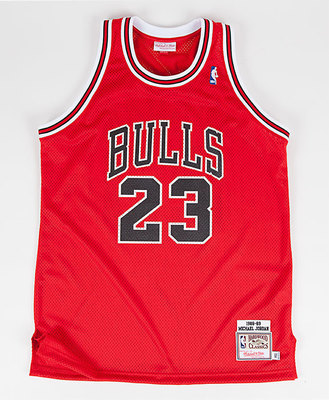 Michael Jordan 'The Shot' Jersey Front. (PRNewsFoto/Mitchell & Ness Nostalgia Co.)