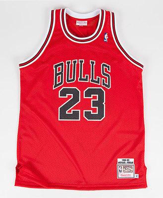 Michael Jordan 'The Shot' Jersey Front. (PRNewsFoto/Mitchell & Ness Nostalgia Co.)