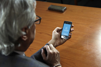 American Heart Association Chief Medical Officer for Prevention Eduardo Sanchez, MD, MPH, checks out Welltok's health optimization app, which will serve as the platform for a new workplace health program in a new collaboration between AHA, IBM Watson Health and Welltok. On the first day of American Heart Month, the three organizations announced plans to develop and introduce the first workplace health program infused with AHA's science-based metrics and the cognitive computing power of Watson. The offering will be designed to build a culture of health and encourage individuals to make heart healthy choices.