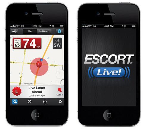 Multi-award winning ESCORT Live(TM) real-time ticket protection smartphone app.  (PRNewsFoto/ESCORT Inc.)