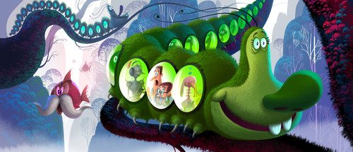 """Concept art from the Sony Pictures Animation project tentatively titled """"Genndy Tartakovsky's CAN YOU ..."""