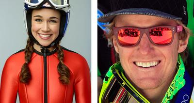 Sarah Hendrickson and Ted Ligety join Team Kellogg's.  (PRNewsFoto/Kellogg Company)