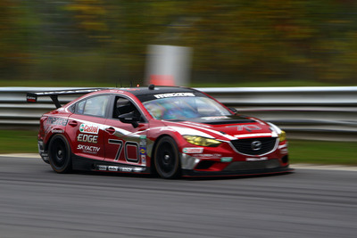 Mazda concluded the 2013 Grand-Am GX season at Lime Rock Park with their ninth win to secure the Manufacturers Championship.  (PRNewsFoto/Mazda Motorsports)