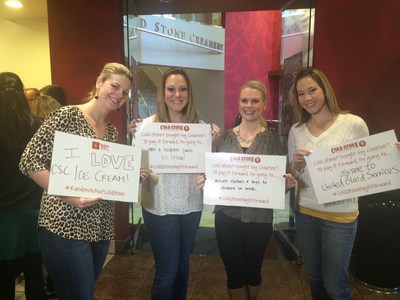 Chanel McFarlane, Julie Hoefling, Rachel Cohn, Andrea Scheel Kick-Off Random Acts of Cold Stone at the Cold Stone Creamery Corporate Office in Scottsdale, Ariz. #RandomActsOfColdStone