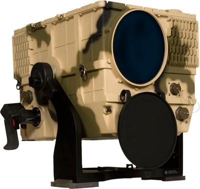 Raytheon Company and Falck Schmidt Defence Systems are debuting a remotely operated, mast-mounted, long-range reconnaissance and surveillance (LRRS) forward looking infrared (FLIR) system at DSEI in London. Photo: Raytheon Company.  (PRNewsFoto/Raytheon Company)