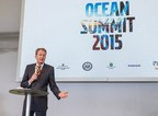 Henry Stenson, executive vice president of Corporate Communications and Sustainability Affairs for the Volvo Group, speaks during the Ocean Summit on Marine Debris, which was held during the Volvo Ocean Race stopover in Newport, Rhode Island.