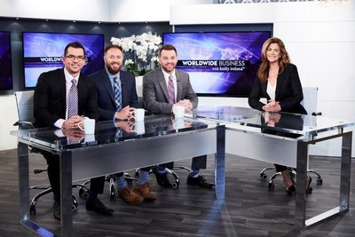 JW Nutritional on the set of Worldwide Business with Kathy Ireland(R)