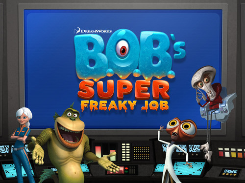 B.O.B.'s Super Freaky Job from DreamWorks Animation and Adrenaline now available for iOS and Android, featuring the gang from Monsters vs. Aliens. (PRNewsFoto/DreamWorks Animation) (PRNewsFoto/DREAMWORKS ANIMATION)