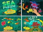 Sea puzzle, the first game developed with kids for kids, introduces toddlers to ocean life through an exciting underwater adventure. The app offers a virtual environment that promotes growth, challenge and teaches new skills rather than competition.