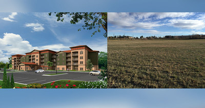 Peakview Trails rendering and lot.