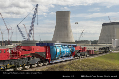 The final steam generator for Vogtle Unit 4 arrived at the construction site in late 2015 and is noted in the 14th Vogtle Construction Monitoring Report.