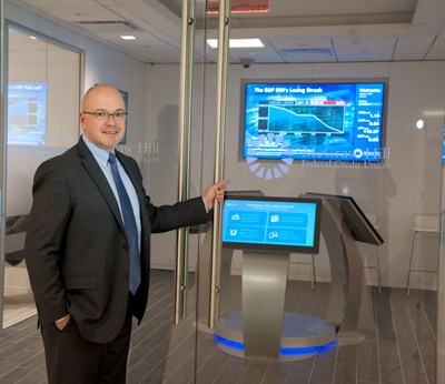 McGraw-Hill Federal Credit Union President and CEO Shawn Gilfedder at the recently opened Financial Wellness Center located at 55 Water Street in Lower Manhattan. The Financial Wellness Center is the first of its kind in the nation and is a new paradigm in providing members with financial wellness and banking services.