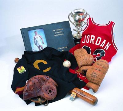 Montage of Sports Immortals Historic Memorabilia.  (PRNewsFoto/Clearpath Entertainment)
