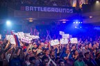 Event spectators cheer during day two of competition at Red Bull Battle Grounds Grand Finals in Washington, District of Columbia, USA on 21 September 2014.