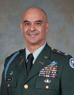 Colonel Rick Noriega Awarded Brigade Command in Texas National Guard.  (PRNewsFoto/Mrs. Melissa Noriega)