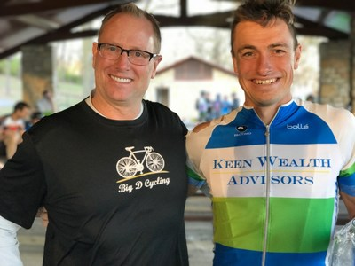 Bill Keen, Founder and CEO, Keen Wealth Advisors and Cody Jones, member of Big D Cycling team