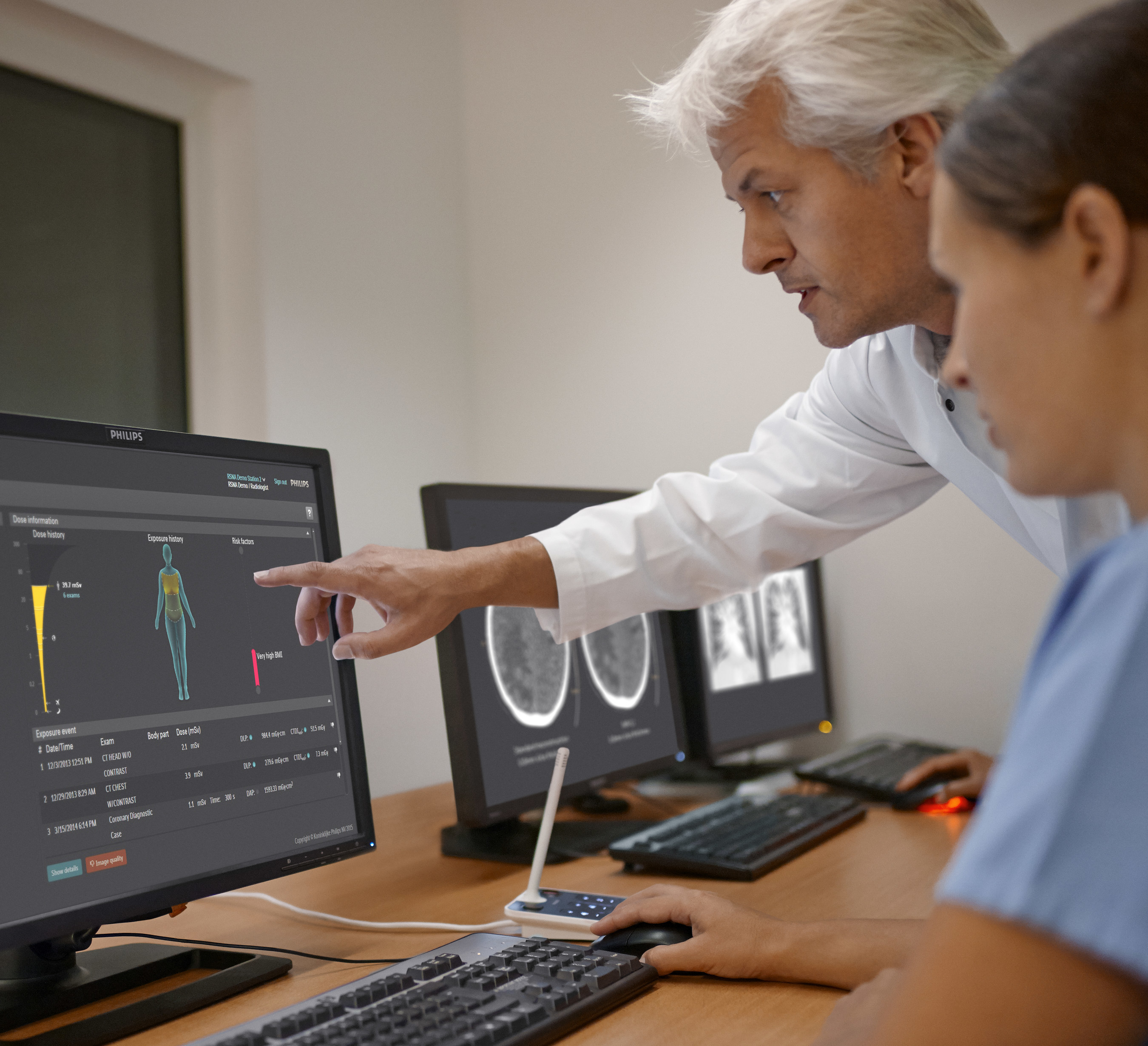 Philips DoseWise Portal 2.2 software allows healthcare providers to record, track and analyze radiation exposure to patients and clinicians