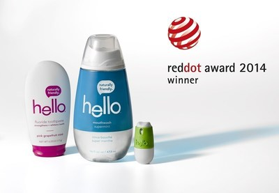 Hello Products Receives the Red Dot Award: Communication Design. (PRNewsFoto/Hello Products LLC)
