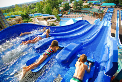 Water fun is available in the middle of Branson at the tropically themed water park White Water, which just opened the new drop-floor thrill slide KaPau Plummet. (PRNewsFoto/Silver Dollar City)