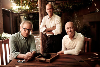 Steven Spielberg, Jeffrey Katzenberg and David Geffen Donate $30 Million Each Towards The $350 Million MPTF Campaign. Left to right: Steven Spielberg, Jeffrey Katzenberg, David Geffen. (Photo by Art Streiber).  (PRNewsFoto/Motion Picture & Television Fund)