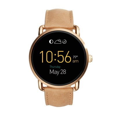 Introducing our slimmest digital display smartwatch to date: Q Wander. Powered by Android Wear(TM), this touchscreen smartwatch tracks activity, connects to your favorite apps, receives display notifications, and has customizable faces to fit your style.This fashionable timepiece tracks everything from daily steps to calories, and notifications alert you of incoming calls and texts. Listen to music or receive directions using the built-in microphone and speaker. Stay charged for up to 24 hours (based on usage) with the conductive magnetic charger, complete with a portable USB cord.