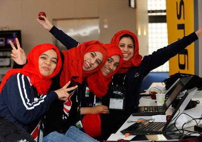 Microsoft announced new competitions that focus on women and female technology innovators at Imagine Cup, the company's global student technology competition.  (PRNewsFoto/Microsoft Corp.)